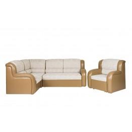 """Диван """"Магнат"""" угловой, с креслом-кроватью"""