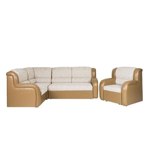 Диван Магнат угловой, с креслом-кроватью