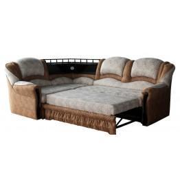 Угловой диван Аврора с баром
