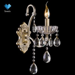 Бра 3108/1 античная бронза/прозрачный хрусталь Strotskis