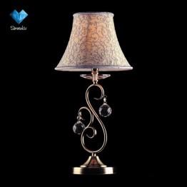 Настольная лампа с хрусталем Strotskis 3294/1T античная бронза наст. лампа Strotskis