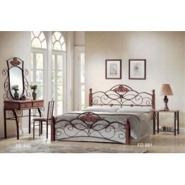 Кровать FD 881 (решетка металлическая) (160x203 см) цвет: Темная вишня