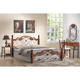 Кровать PS 8812 (решека металлическая) (160х203 см) цвет: Темная вишня