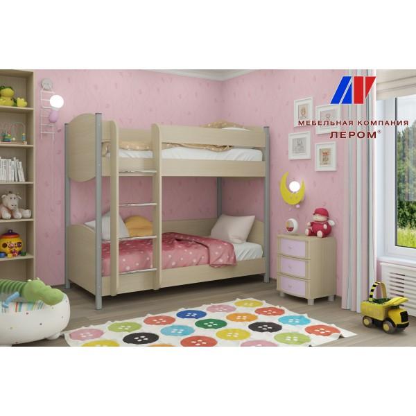 Детская Валерия 8 БД-С цвет Дуб беленый с сереневыми вставками (БД-С)