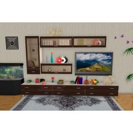 Гостиная Лером Мелисса ПР2 цвет корпус Дуб Беленый, фасады Дуб Венге (БД-ВЕ)
