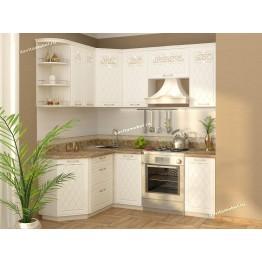 Кухонный гарнитур угловой Тиффани 15 (ширина 150х200 см)